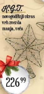 Novogodišnji ukras zvezda