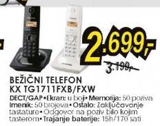 Bežični telefon Panasonic KX-TG1711FXB ili FXW