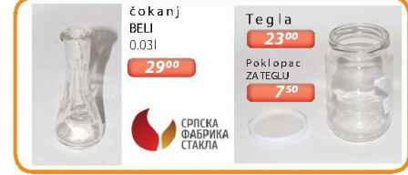 Stakleni čokanj Srpska fabrika stakla