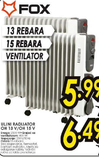 Uljani radijator OH 15 V