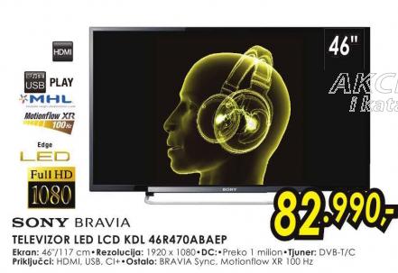 Televizor LED LCD KDL-46R470ABAEP