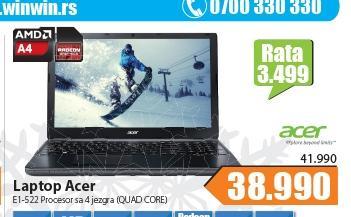 "Laptop Aspire E1-522-45004G50Mnkk 15.6"""