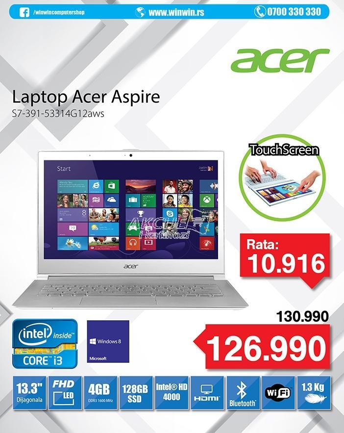 """Laptop S7-391-53334G12aws 13.3"""""""