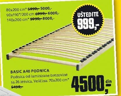 Podnica Basic A40 140x200