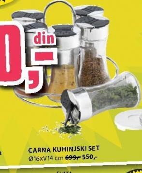 Kuhinjski set CARNA