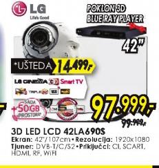 Televizor 3D LED LCD 42LA690S