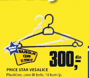 Vešalice Price Star