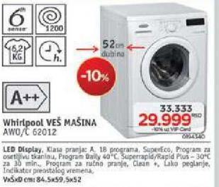 Mašina Za Veš Awo/C 62012