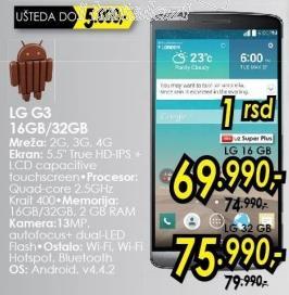 Mobilni telefon G3 16Gb