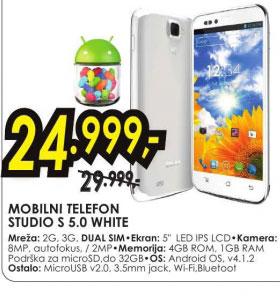 Mobilni telefon STUDIO S 5.0 WHITE