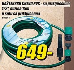 Baštensko crevo PVC sa priključcima