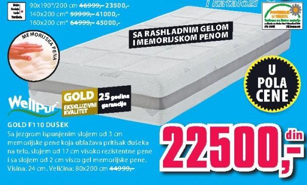Dušek Gold F110 90x190/200