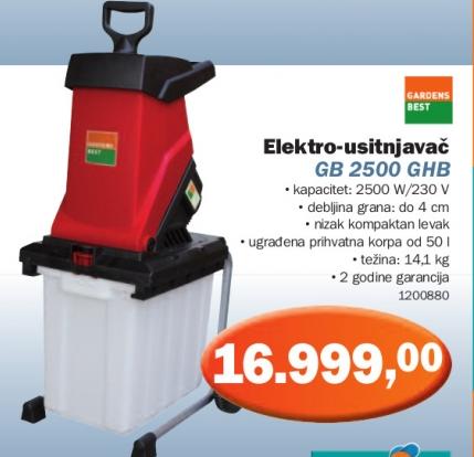 Elektro-usitnjavač GB 2500 GHB