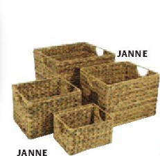 Pletena korpa Janne, 30x35x25cm