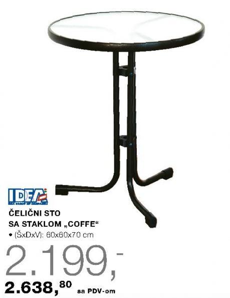 Čelični sto sa stalkom Coffe Idea