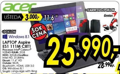 Laptop Aspire Es1 111m C8t1