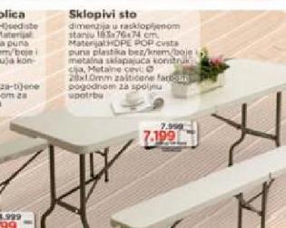 Sklopivi sto
