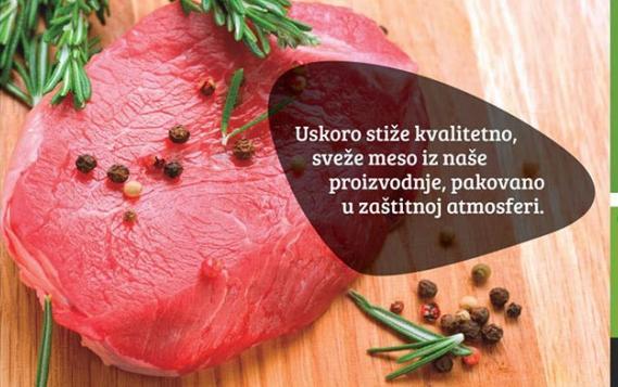 Sveže meso pakovano u zaštitnoj atmosferi