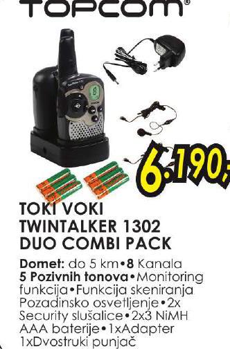 Toki voki Twintalker 1302 do comi pack