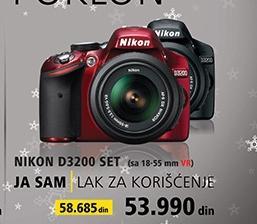 Foto aparat D3200 set