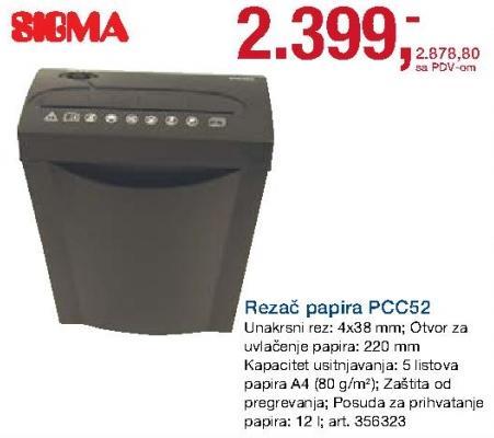 Rezač papira Pcc52