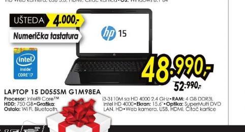 Laptop 15-d055em G1M98EA
