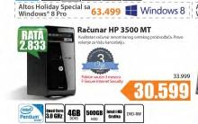 Desktop računar HP 3500MT + Poklon vaučer za 3 meseca f-Secure Internet security