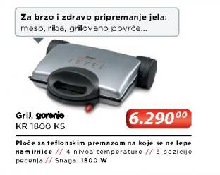 Gril toster KR 1800 KS