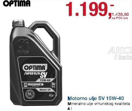Motorno ulje Sv 15w-40 Optima