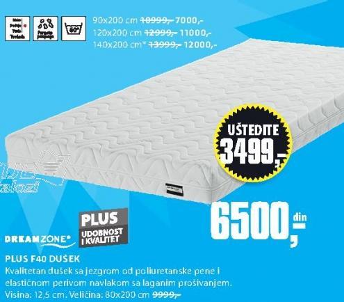 Dušek Plus F40 90x200