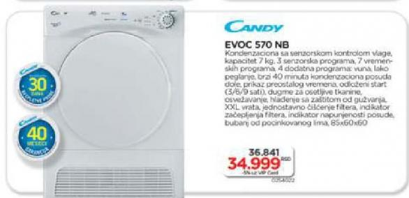 Mašina Za Sušenje Veša EVOC 570 NB