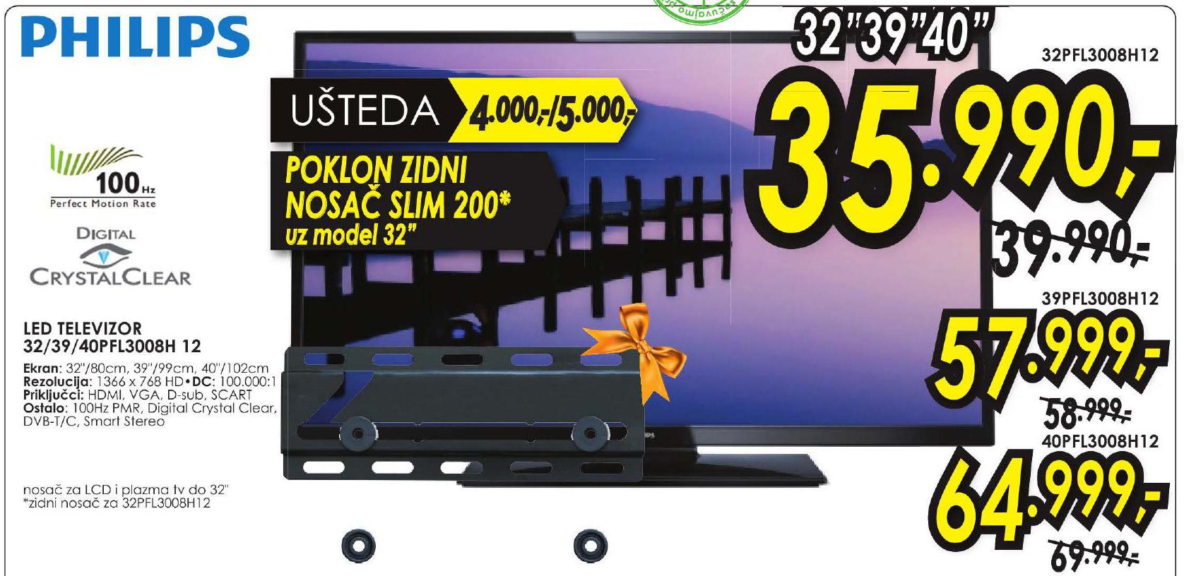 LED Televizor 32FL3008H + Poklon zodni nosač slim