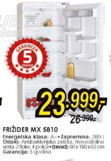 Frižider MX 5810