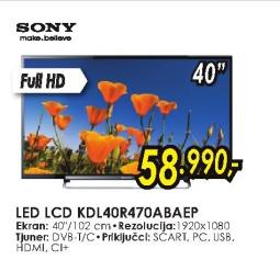 Televizor LED LED LCD KDL-40R470ABAEP