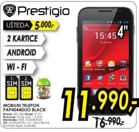 Mobilni telefon Pap4044 Duo Black