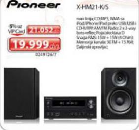 Muzička mikro linija Pioneer X-HM21-K/s
