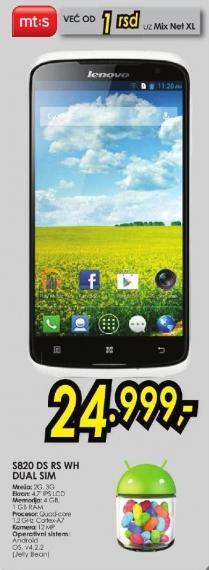 Mobilni telefon S820 Ds Rs Wh Dual Sim