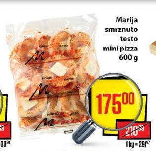 Smrznute mini pizze