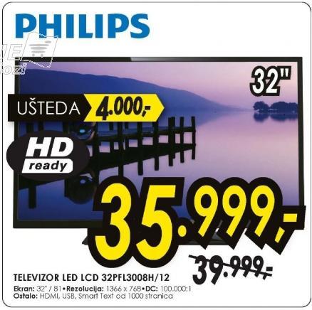 Televizor LED 32PFL3008H/12