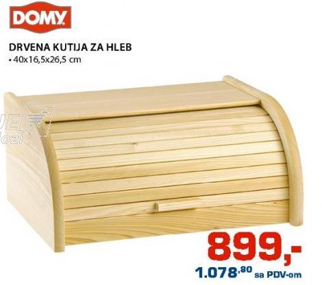 Kutija za hleb Drvena Domy