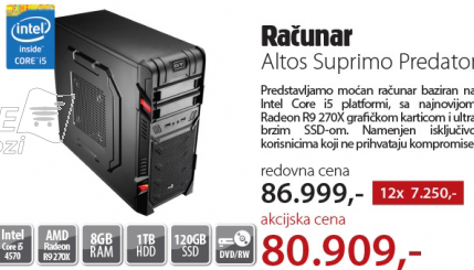 Desktop računar Altos Suprimo Predator