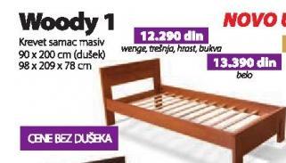 Krevet Woody 1 belo