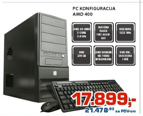 PC konfiguracija AMD 400
