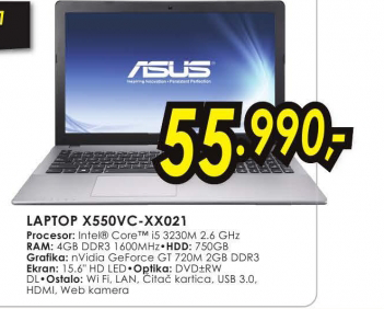Laptop X550VC-XX021
