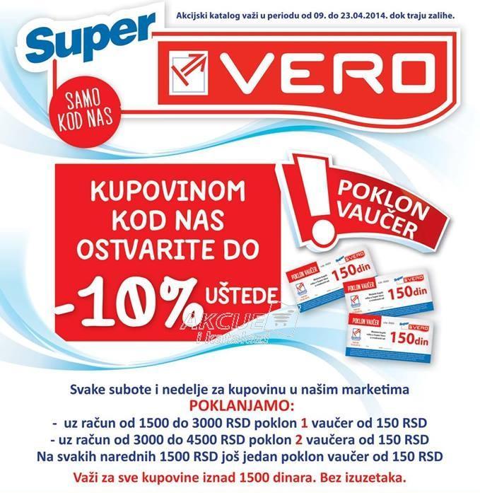 Kupovinom u Veru ostvarite 10% uštede