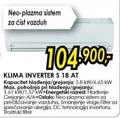 Klima Inverter S 18 At