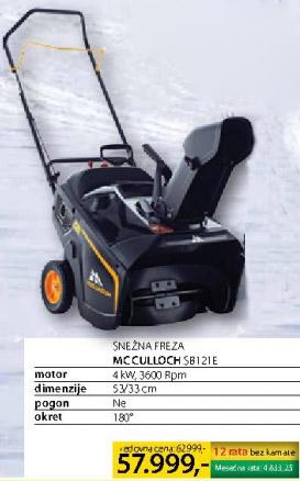 Snežna freza McCulloch Sb121e