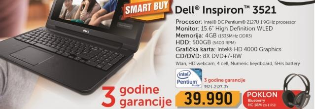 Laptop Inspiron 3521-2127-3Y