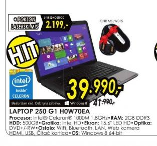 Laptop 250 G1 H0W70EA
