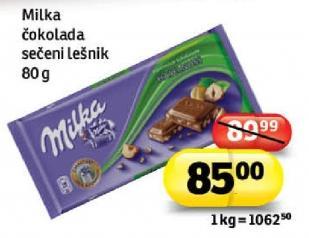 Čokolada sečeni lešnik